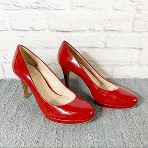 Womens Vince Camuto Red Patent Leather Pump Size 9